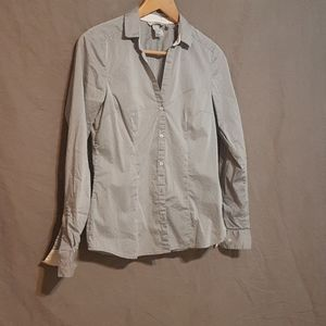 H&M patterned button down shirt
